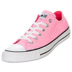 The Converse Women's Chuck Taylor Ox is the classic, all-American shoe that looks good at school, running errands, at a concert or even at the office (okay, maybe not every office). Show your individuality and style in these versatile sneakers that now come in even more colors and great patterns.  A breathable canvas upper keeps feet comfortable, while the lace-up style allows for a secure, personalized fit. The low-top design makes these shoes easy to wear with almost anything, whi...