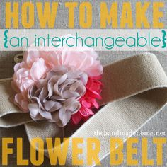 how to make a flower belt | the handmade home