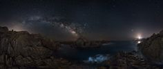 "Bridge of stars - Hit H for best view! Panoramic of the milky way arch in Cala Cipolla, Onion bay, in Sardinia. On the right the lighthouse of Capo Spartivento.   <a href=""http://www.thewildlifemoments.com"">MY SITE</a> 