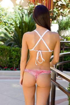 Peppermint Thong Bikini Bottom by KiniKaiBikini