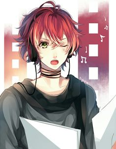 Anime boy with headphones!!!