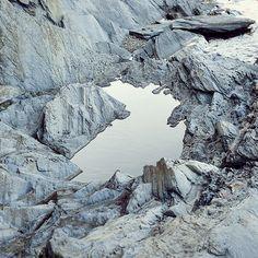rocks grey white water landscape nature mountains