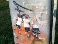 Two years of Wind and weather in Schwerin. #streetart #stencil