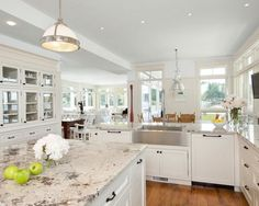 15 Best Pictures of White Kitchens with Granite Countertops | http://myhomedecorideas.com/15-best-pictures-of-white-kitchens-with-granite-countertops/