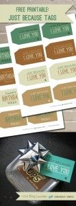 Free Printable: Just Because I Love You Tags - Somewhat Simple