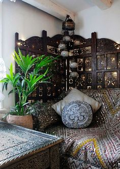 Boho home &; moroccan inspired By interior designer &; Boho home &; moroccan inspired By interior designer &; Zita Flatley bohemian decor Boho home &; moroccan inspired By […] Divider bathroom Moroccan Interiors, Moroccan Decor, Moroccan Style, Moroccan Bedroom, Moroccan Lanterns, Bohemian Interior, Bohemian Decor, Indian Interior Design, Interior Bohemio