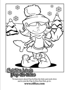 Christina Marie Pop-In-Kins Coloring Page 1