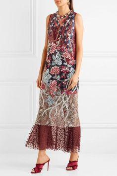 Biyan - Almira Embellished Embroidered Tulle Gown -