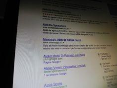 """mimmagio.it  in prima pagina su Google.it con """"abiti da sposa"""""""