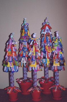 Candy Christmas tree DIY. Repinned from Vital Outburst clothing vitaloutburst.com