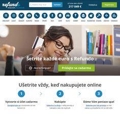 Ušetrite vždy, keď nakupujete online. Refundo.sk je porovnávač tovaru a služieb, ktorý Vám zaplatí za každý Váš nákup.