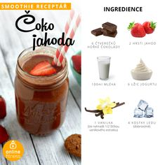 Milujeme smoothie, aneb 10 skvělých receptů, které musíš zkusit! | Blog | Online Fitness Smoothie Drinks, Fruit Smoothies, Smoothie Recipes, 100 Cookies Recipe, Cookie Recipes, Healthy Cooking, Healthy Life, Healthy Recipes, Milkshake