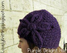 Knitting Girl's Lovely Knitting: Purple Delight Hat