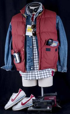 marty mcfly shah safari | ... Future Marty McFly Halloween Costume Vest Jacket Shah Shirt XL | eBay