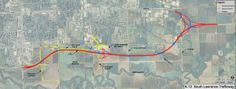 #EPCRA A map showing the route for the South Lawrence Trafficway. Courtesy: Kansas Department of Transportation @ http://www.pinterest.com/rjburkhart3/geo-literacy-advocacy/