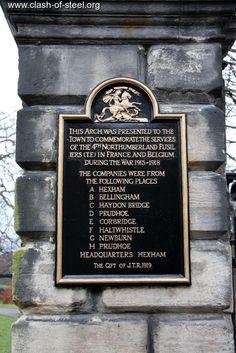 Hexham war memorial