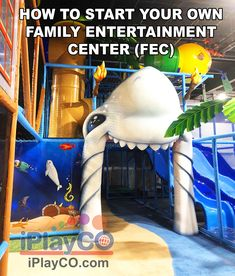 We design, manufacture and install themed indoor playground structures. This shark entrance was added to a family entertainment center which also has many other beach themed items. Let us plan your family entertainment center. Playground Design, Outdoor Playground, Kids Play Equipment, Best Commercials, Entrance Design, Church Design, Indoor Play, Toddler Play, Creative Play