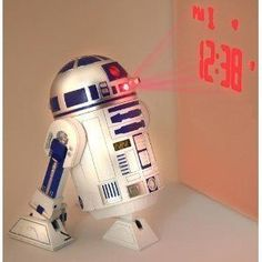 Star Wars R2D2 Projection Alarm Clock alarm clock time projection Overseas Limited imports ** Continue to the product at the image link.