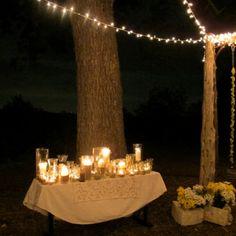 Candlelit wedding ceremony.
