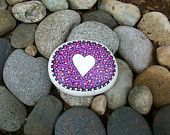 Heart Rock Paperweight with Bonus Peace Rock