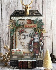 New Diy Christmas Tags Tim Holtz Ideas Diy Christmas Tags, Christmas Shadow Boxes, Christmas Mix, Christmas Paper Crafts, Christmas Gift Wrapping, Christmas Projects, Handmade Christmas, Vintage Christmas, Tim Holtz Stamps