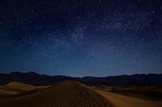 Earth and Sky - I had been waiting for a long time for a chance to take some starry sky photos over the dunes, and last night, it finally presented itself. The Milky Way was faint, but the experience was out of this world. Death Valley National Park, CA.