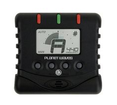 """Planet Waves Universal Chromatic Tuner by Planet Waves. $11.19. From the Manufacturer                Perfect for beginners and professionals alike, the Universal Chromatic II Tuner precisely tunes guitars, 4-6 string basses, and other stringed, woodwind, and brass instruments. Features such as an oversized note indicator, bold LCD graphics, built-in microphone and 1/4"""" input make it extremely easy to tune any acoustic or electric instrument. The compact, sleek des..."""