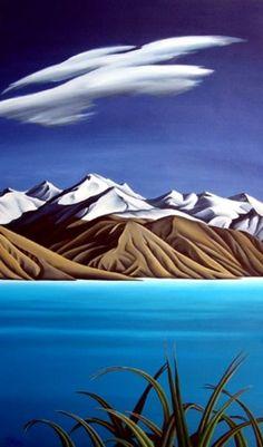 Tekapo by Diana Adams Landscape Prints, Abstract Landscape, Landscape Paintings, Watercolour Paintings, Watercolors, Landscapes, New Zealand Landscape, New Zealand Art, Nz Art