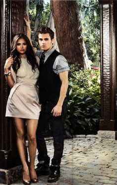 Stefan & Elena - The Vampire Diaries Looks more like Katherine than Elena (: