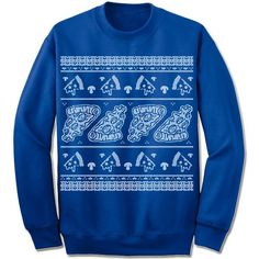 Pizza Ugly Christmas Sweater. Pizza Slice.