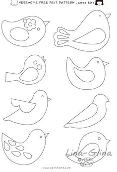 Gallery.ru / Фото #9 - 3 - lina-glina...An assortment of bird appliqués!!