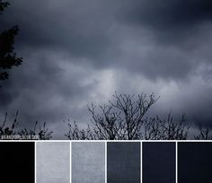 'Thunderstorms' palette - dark and moody gray blue tones