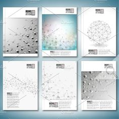 Science brochure or flyer templates Graphics Molecule structure. Brochure, flyer, report for business or science templates.Save 50 off the reg by VectorShop