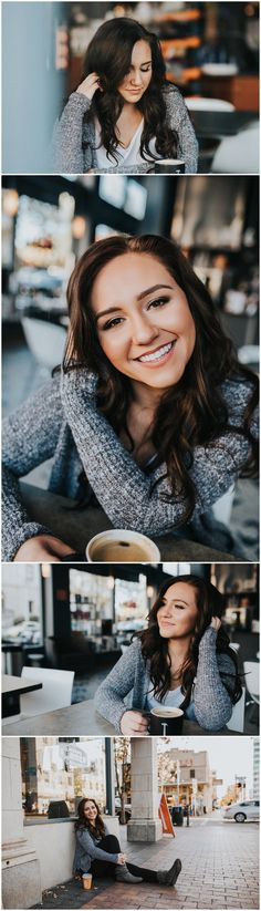 Boise Senior Photographer Compass Charter Class of 2017 Downtown Boise Thomas Hammer Coffee Senior Girl Laughter