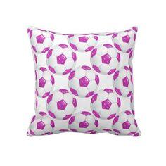 Everyone Needs A Diamond Gemstones Hot Pink Soccer Ball Pillow, Right?  http://www.zazzle.com/diamond_gemstones_hot_pink_soccer_ball-189689826364782387?rf=238575087705003771