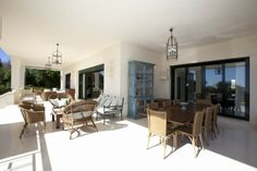 Villa for Sale in The Golden Mile, Costa del Sol. This palatial villa enjoys some of the most fantastic panoramic sea views and occupies a large & elevated south facing plot in the prestigious gated neighbourhood of Altos de Puente Romano, above Marbella's beautiful Golden Mile. Click on the image for more details about this stunning property.