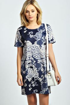 Brooke Paisley Shift Dress, boohoo.com, $30 size 8
