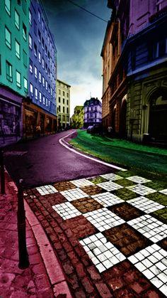 #Colorful street #Nokia wallpaper download via www.mobile9.com
