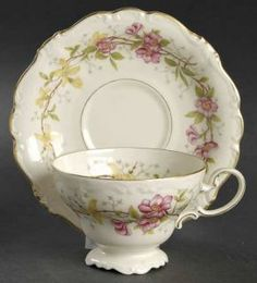 Rosenthal   Continental Caprice Footed Cup & Saucer Set, Fine China Dinnerware