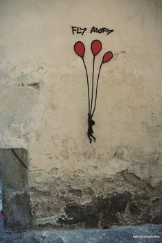 "Exit Enter, ""Fly away"", Via Sguazza, Firenze (Toscana, Italy) - by Silvana, giugno 2014"