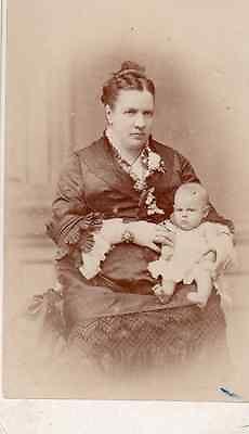 Carte de visite cdv albumine albumen, Cavilla & Bruzon Gibraltar, femme bébé in Collections, Photographies, Autres | eBay