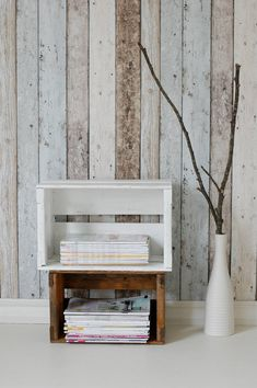 Trendy Fake Wood Wallpaper My Heart Wooden Wallpaper, Home Wallpaper, Bedroom Wallpaper, Wallpaper Ideas, Plank Walls, Trendy Home, New Living Room, Wall Treatments, Decoration