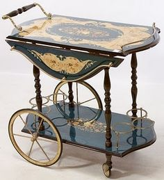 ^^Click the link to read more about vintage bar cart. Click the link to find out more****** Viewing the website is worth your time. Serving Trolley, Tea Trolley, Diy Bar Cart, Gold Bar Cart, Antique Tea Cart, Vintage Furniture, Painted Furniture, Italian Drinks, Vintage Bar Carts