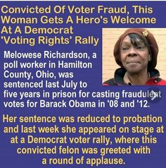 Voter fraud applauded by Democrats.