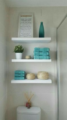 Best Best Bathroom Shelves Over Toilet Design Ideas That Will More Useful fr. - Marit Sirnes - - Best Best Bathroom Shelves Over Toilet Design Ideas That Will More Useful fr. Bathroom Shelves Over Toilet, Bathroom Shelf Decor, Small Bathroom Storage, Bathroom Cabinets, Bathroom Ideas, White Bathroom Shelves, Budget Bathroom, Modern Bathroom, Bathroom Colors