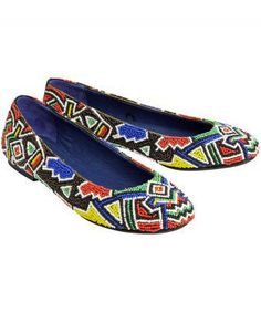 Full of colour and personality, these fully beaded shoes are perfect for jazzing up jeans and skirts.