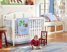 """Great Nursery with """"The Very Hungry Caterpillar"""" Theme: potterybarnkids.com"""