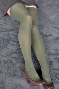 Foot Traffice Solid Opaque Thigh High , $6 -- 12 color choices.    #emerald #thighhigh #foottrafficusa