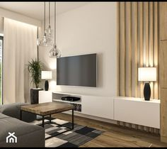 Living Room Tv Unit Designs, Home Design Living Room, Home Decor Bedroom, Living Room Decor, Classy Living Room, Beautiful Living Rooms, Living Room Modern, Modern Tv Room, Living Room Candles
