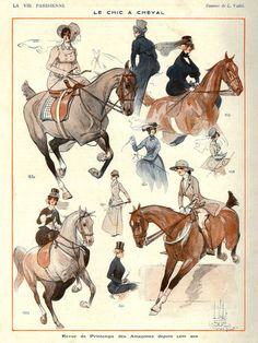 Le Chic a Cheval, La Vie Parisienne, 1922
